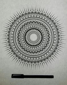 Handmade Mandalas   Follow me  #mandala #ink #mandalas #art #blackandwhite #dotwork