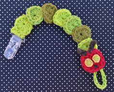 Very Hungry Caterpillar Crochet Pacifier Clip
