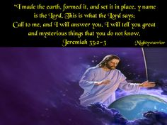 """IMMANUEL GOD WITH US """"I AM"""": Ask me and I will tell you"""