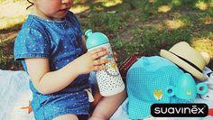 Hit sprzedaży 2015 roku - bidon sportowy Suavinex pojemność 360 ml. Dostępny w dwóch kolorach: zielonym i różowym