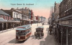Upper Queen Street, Auckland. Postcard from the W. & A. Series. Phototyped in Saxony.