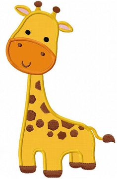 Giraffe Applique Machine Embroidery Design by JoyousEmbroidery, $2.99