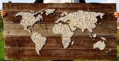 world map continents united states europe africa custom string art