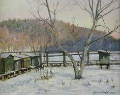 . Winter Landscape, Snow, Canvas, World, Honey Bees, Painting, Outdoor, Chicken, Tela