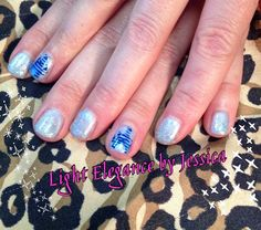 Light Elegance gel nails. Disney Castle nail art. Hand painted by Nail Tech Jessica in Salem Oregon.