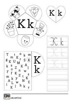 Letter K, Teaching Aids, Asd, Worksheets, Exercises, Kindergarten, Preschool, Platform, English