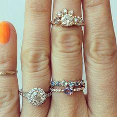 Mociun   Custom designs featuring White Diamonds, Aquamarine, and Sapphires