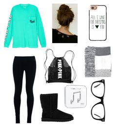 """""""Untitled #142"""" by veggieranch on Polyvore featuring Victoria's Secret, NIKE, UGG Australia, Casetify, Topshop, Happy Plugs and Muse"""