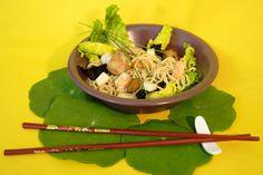 Salade chinoise au poulet et crevettes
