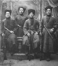 photos of Terek soldiers ~ White Army