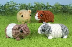 Baby Guinea Pigs - four amigurumi guinea pig PDF CROCHET PATTERNS