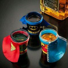 Super hero drink glasses