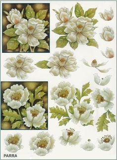 FLORES Poppy Images, Flower Images, Flower Art, Decoupage Vintage, Kirigami, Image 3d, Etiquette Vintage, 3d Sheets, 3d Christmas