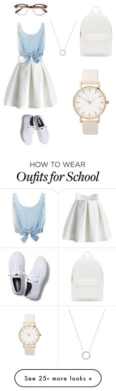 """school style"" by esphir on Polyvore featuring moda, Chicwish, Keds, PB 0110, Honor e Michael Kors"