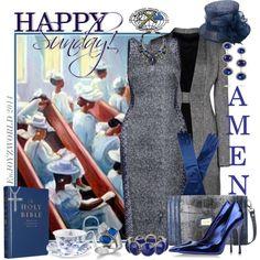 """HAPPY SUNDAY!!!: GRAYS & BLUES"" by enjoyzworld on Polyvore"