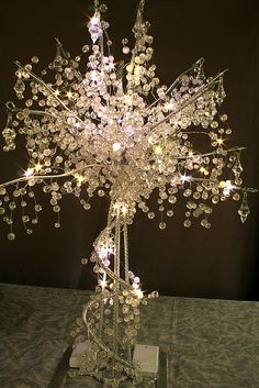 Check out the deal on Lit Crystal Wedding Tree 24 inch 60 Lights at Battery Operated Candles