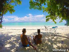 admirando las vistas desde Poda Island beach