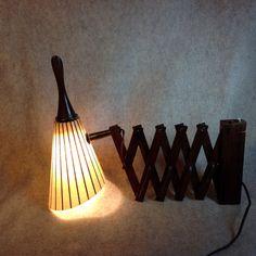 MCM Scissors Wall Lamp with Fiberglass shade  by KentuckyTrader