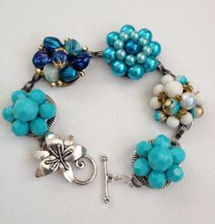 Vintage earring bracelet upcycled bracelet by ChicMaddiesBoutique, $30.00