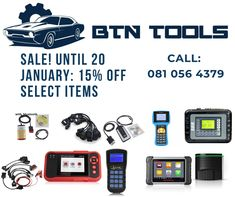 BTN Tools Cape Town sells all types of Automotive Diagnostic equipment for most Cars and Trucks. Tools For Sale, The Selection