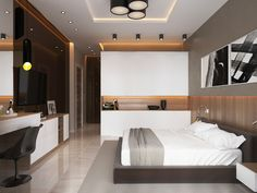 Ideas bedroom colors cozy interior design for 2019 Trendy Bedroom, Cozy Bedroom, Modern Bedroom, Bedroom Decor, Bedroom Ideas, Bedroom Lighting, Bed Design, House Design, Luxurious Bedrooms