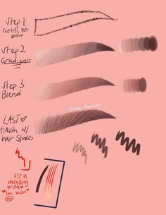 Learn how I draw my eyebrows :) This simple 4 step tutorial will help ya out if you're struggling with drawing some bomb a** brows :) Procreate brush only ❤️❤️ Digital Painting Tutorials, Digital Art Tutorial, Art Tutorials, Drawing Tutorials, Drawing Techniques, Drawing Tips, Digital Art Beginner, Ipad Art, Art Reference Poses