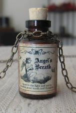ANGELS BREATH Potion Bottle NECKLACE Pendant Apothecary Vial Witch HALLOWEEN