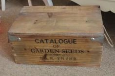 Wooden storage box w/ lettering & rope handles