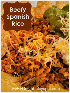 Main Dish Beefy Spanish Rice - twelveOeight