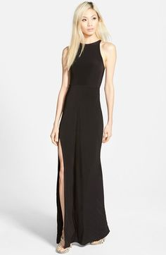 Missguided 'Nora' High Neck Maxi Dress available at #Nordstrom