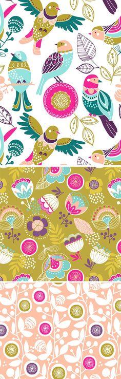 Wendy Kendall Designs (freelance surface pattern designer): Eden: