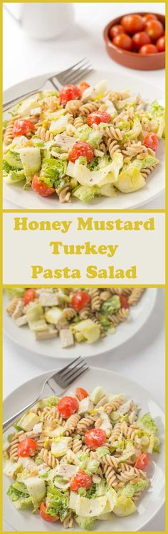Leftover Turkey Pasta Salad With Honey and Mustard Dressinghave