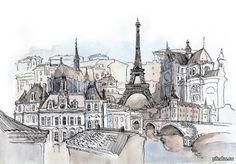 париж в рисунках - Поиск в Google