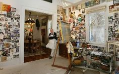 The artist in his studio- New Orleans artist Tim Trapolin.