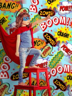 Superhero Party Backdrop| Denny Mfg.
