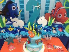 Amazing Finding Nemo birthday party! See more party ideas at CatchMyParty.com!
