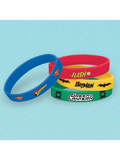 Need Justice League Rubber Bracelet Favors (4 Count) for your next event? Find Birthday in a Box for the best selling and party decorations & discount prices.