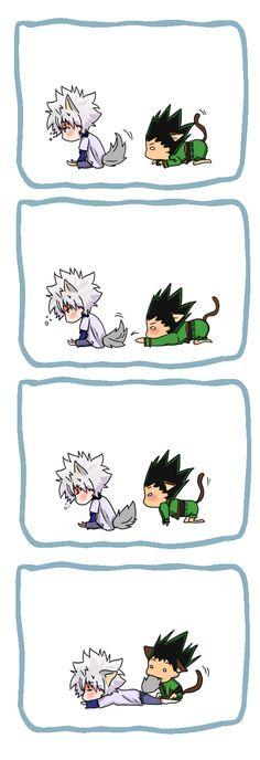 Killua and Gon… Too cute! ^_^        ~Hunter X Hunter