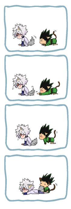 Killua and Gon… Too cute! ^_^        ~Hunter X Hunter