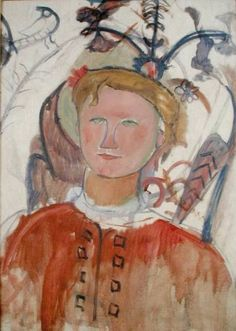 portrait of Marie Vassilieff, 1918, Amedeo Modigliani