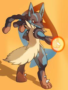 Mega Lucario by Joey C via chipmanart Mega Lucario, Lucario Pokemon, Ash Pokemon, Cool Pokemon, Best Pokemon Ever, Epic Pictures, Catch Em All, Pop Culture, Anime