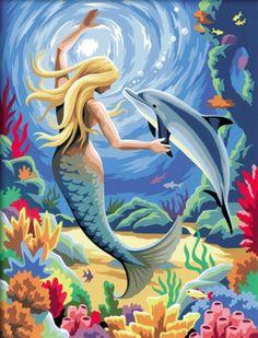 Mermaid and dolphin …