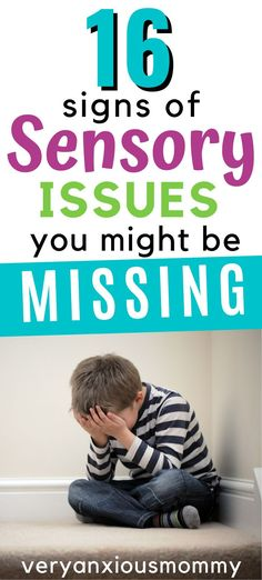 16 Common Signs of Childhood Sensory Issues You May Be Missing - Very Anxious Mommy Autism Sensory, Sensory Activities, Childcare Activities, Sensory Wall, Parenting Advice, Gentle Parenting, Kids And Parenting, Sensory Diet, Sensory Issues