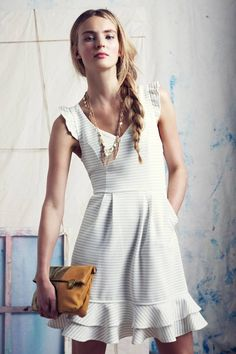 Maeve Sunland Dress  Brand: Anthropologie Store: Anthropologie Color: White Availability: In Stock Price: $148.00