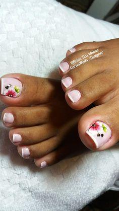 Fotos de Unhas dos pés com flores