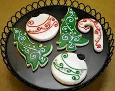 decorated cookie ornament shape - Google Search