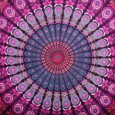 Yoga Bohemian Colorful Mandala Tapestry - Beach Blanket