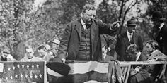"Teddy Roosevelt just went ahead and delivered a speech, despite the fact that he had been shot in an assassination attempt moments before. The bullet was still in his body while he gave his now-famous ""Bull Moose"" speech. Higher Achievement, Bull Moose, Daring Greatly, Theodore Roosevelt, American Presidents, Smile Because, American Pride, God Bless America, World History"