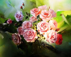 Beautiful Flowers Wallpapers, Beautiful Roses, Beautiful Images, New Year Greeting Cards, New Year Greetings, Naming Day Cards, Glitter Gif, Bouquets, Flowers Gif