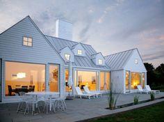 white modern farm house